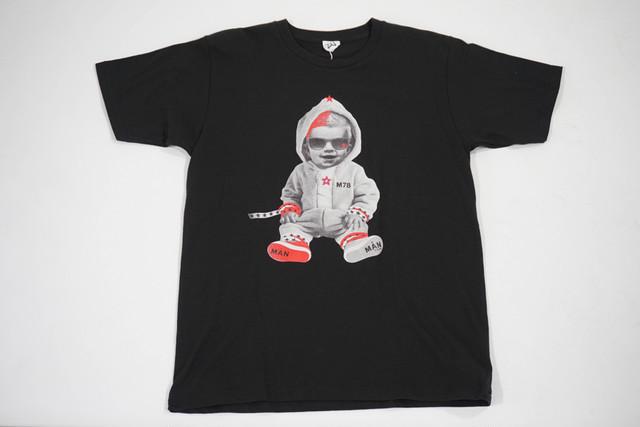 【StarLean】ベイビープリントTシャツ【ブラック】