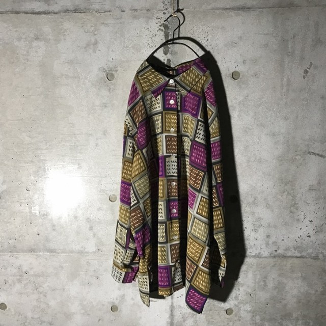 [used] purple boxes pointed designed shirt
