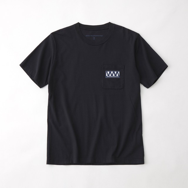 WM LOGO POCKET T-SHIRT - NAVY