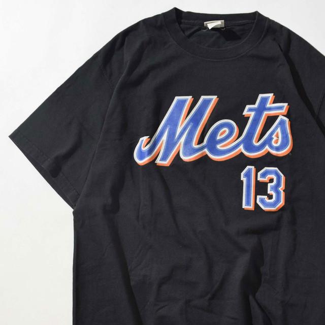 【Lサイズ】LEE リー NY Mets Wagner 13 TEE 半袖Tシャツ BLK ブラック L 400601191036