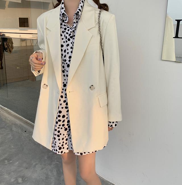 【翌日発送】Simple taylor white jacket  LD0682