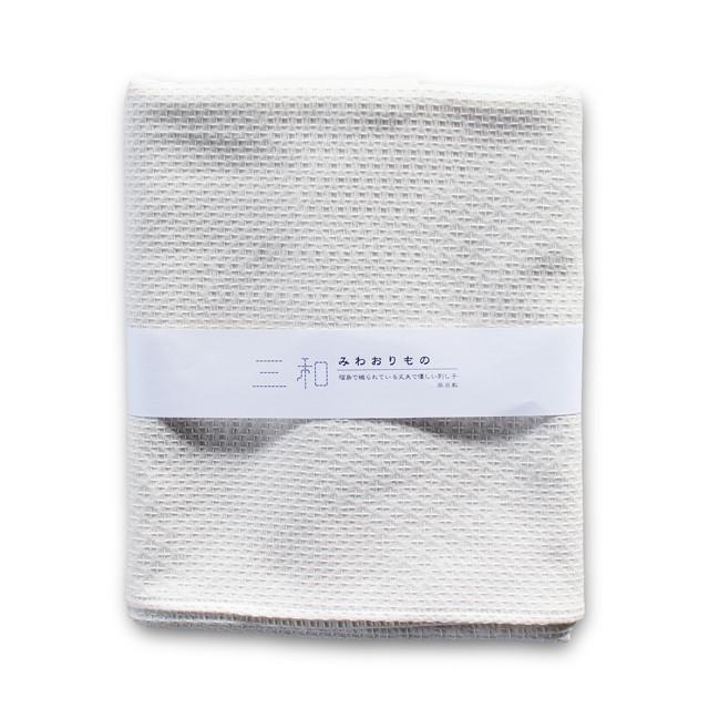 三和織物 紋刺し子 風呂敷 [生成x生成]