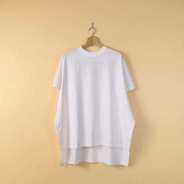 TRAVAIL MANUEL トラバイユマニュアル ギザコットン天竺ルークTシャツ・ホワイト