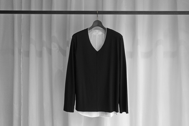 ASKYY / 2 SHOULDER LINE CUTSEW L/S / L.GRY