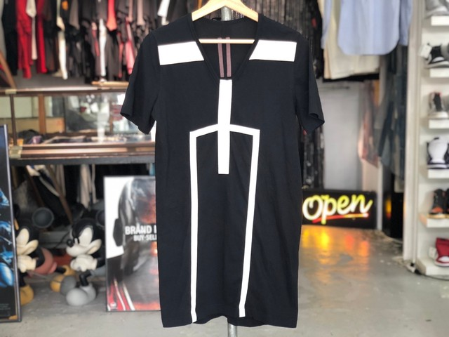 RICK OWENS 17SS DRKSHDW TAPED LONG TEE SMALL 55 7681
