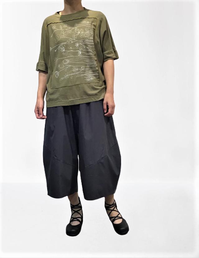 【最新作】ボタニカルプリントオーバーTシャツ【211-3225】