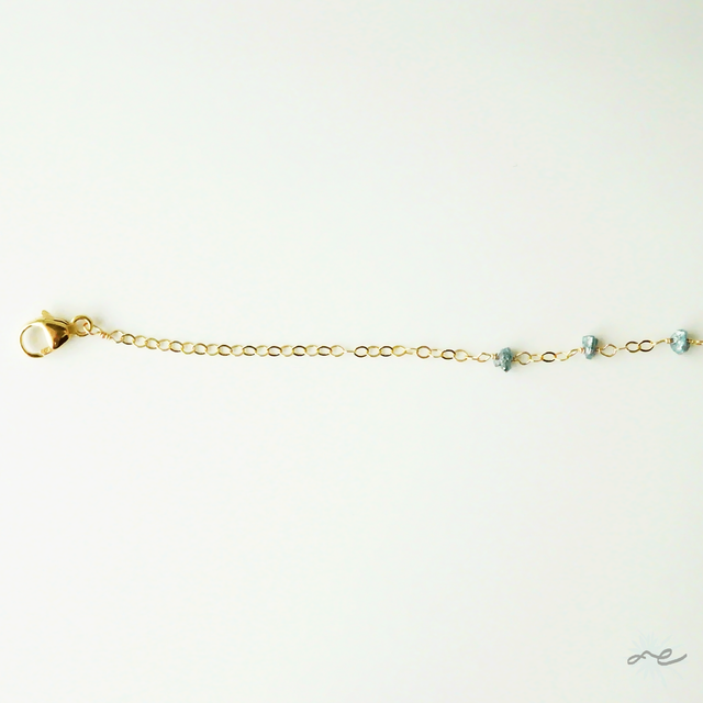 Blue Diamond Bracelet/14KGF