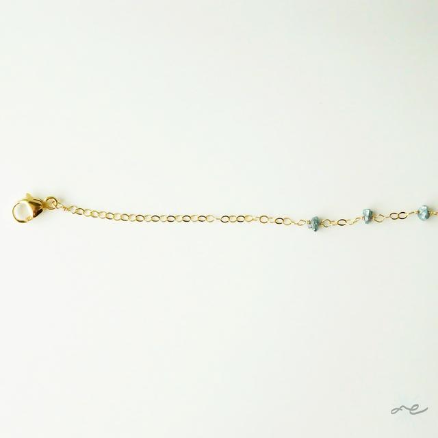 Blue Diamond Bracelet/14KGF
