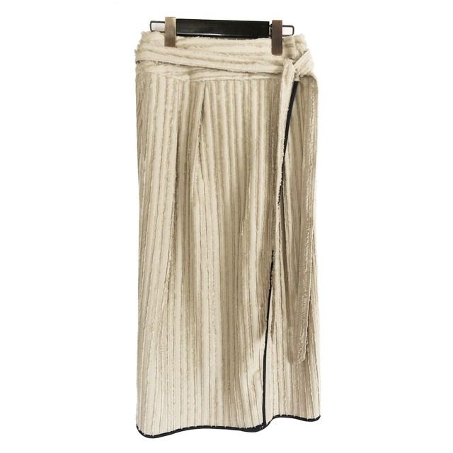 Fringe cut jacquard skirt <BEIGE>sample