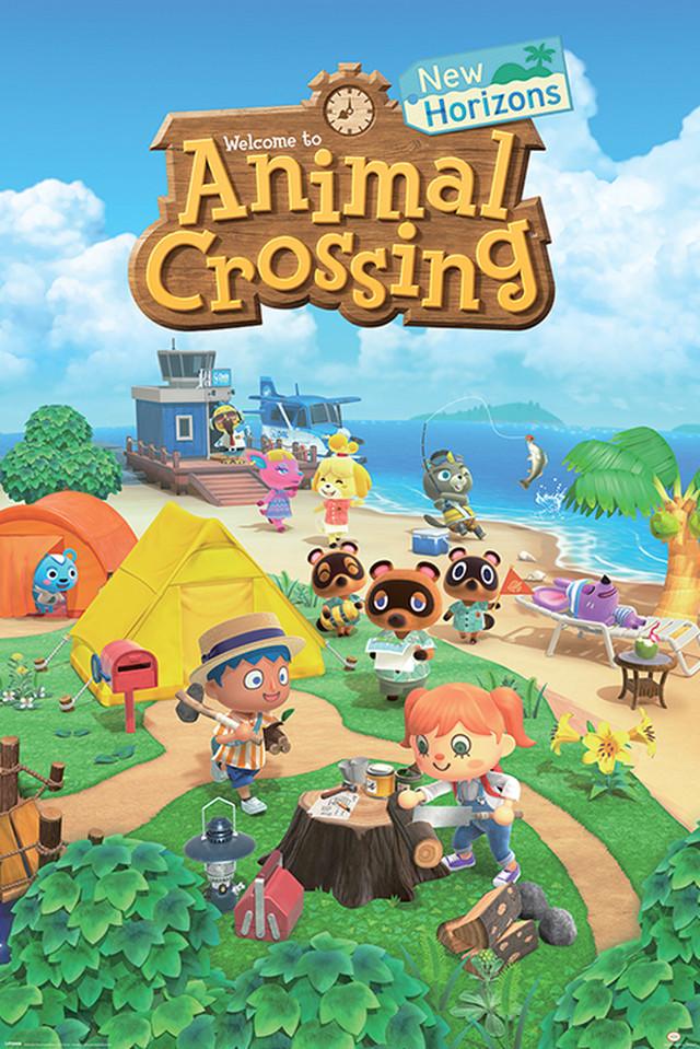 引続きセール主力商品20%OFF!  あつまれ!どうぶつの森 英語タイトル「Animal Crossing」 輸入ポスター 61cm x 91.5cm POSP34647