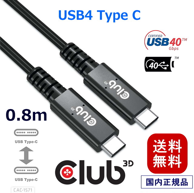 【CAC-2161】Club3D Mini DisplayPort 1.2 HBR2 4K 60Hz Male - Male 2m 32AWG ディスプレイ ケーブル Display Cable