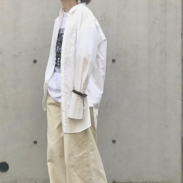 Liyoca タイプライタードレスシャツ WHT【19AW】