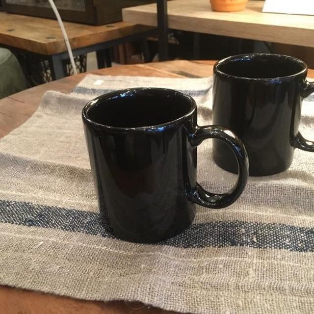 美濃焼 シンプル切立マグカップ ブラック