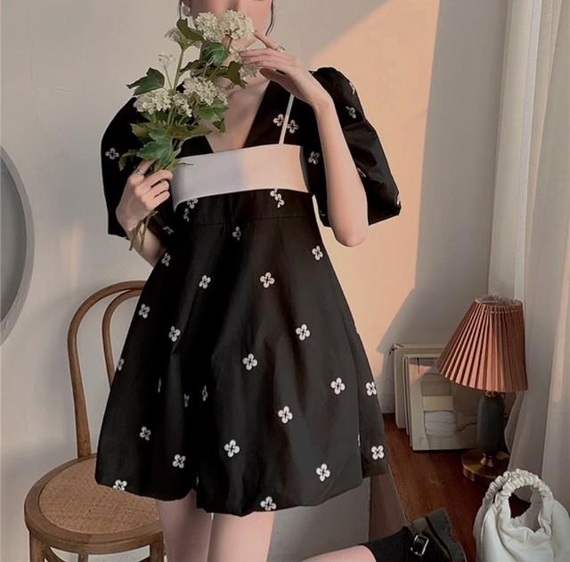flew puff sleeve dress