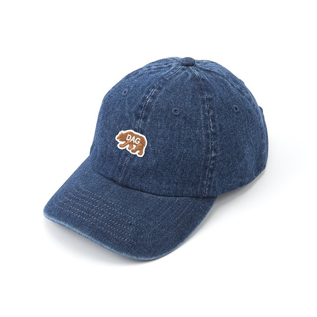 "【DARGO】""D.A.G"" Bear Dads Cap (DENIM)"