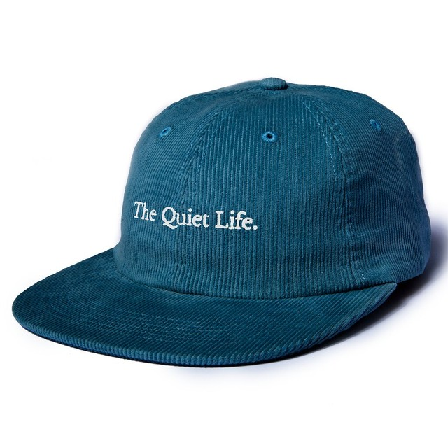 THE QUIET LIFE SERIF CORD POLO HAT GREEN