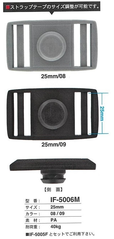 FIDLOCK  SNAP-PUSH用 5006M 25mm幅テープ調整機能付き 1個