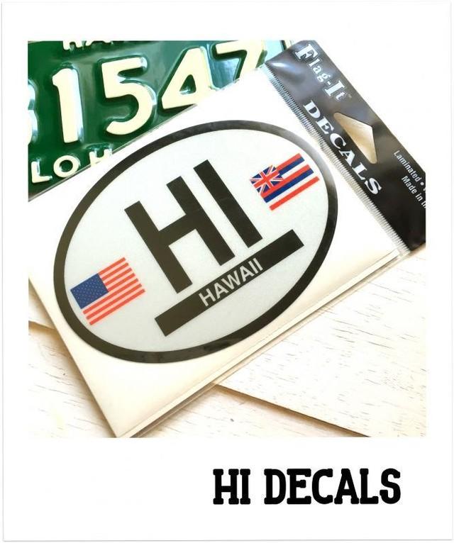 """ステッカー """"HI  FLAG decals"""