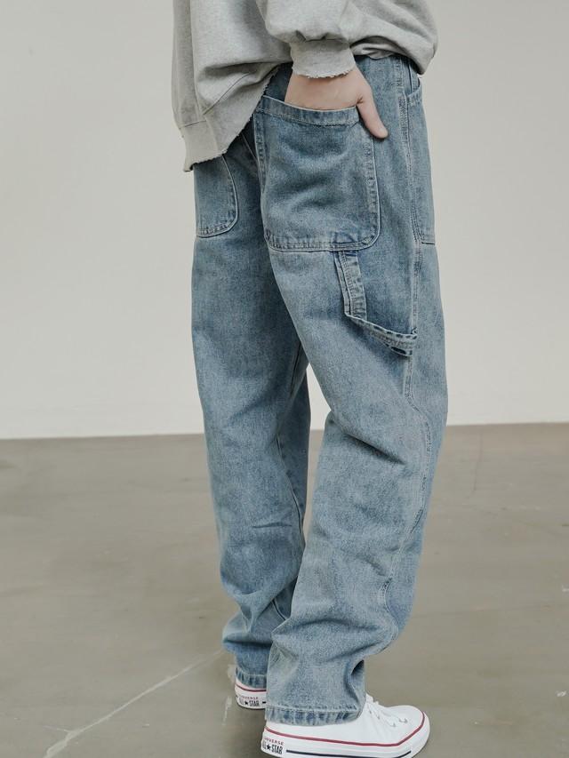 【即日出荷】ワイドデニムパンツ ボトムス 大きめ メンズ ズボン ジーンズ ストリート カジュアル