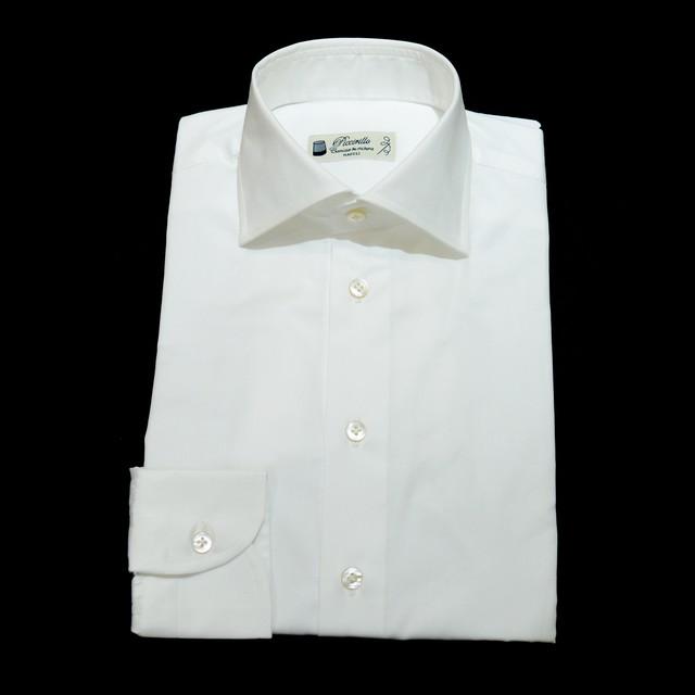 【新入荷】Camiceria Piccirillo コットン L/S ドレスシャツ 37 - ロイヤルオックス白
