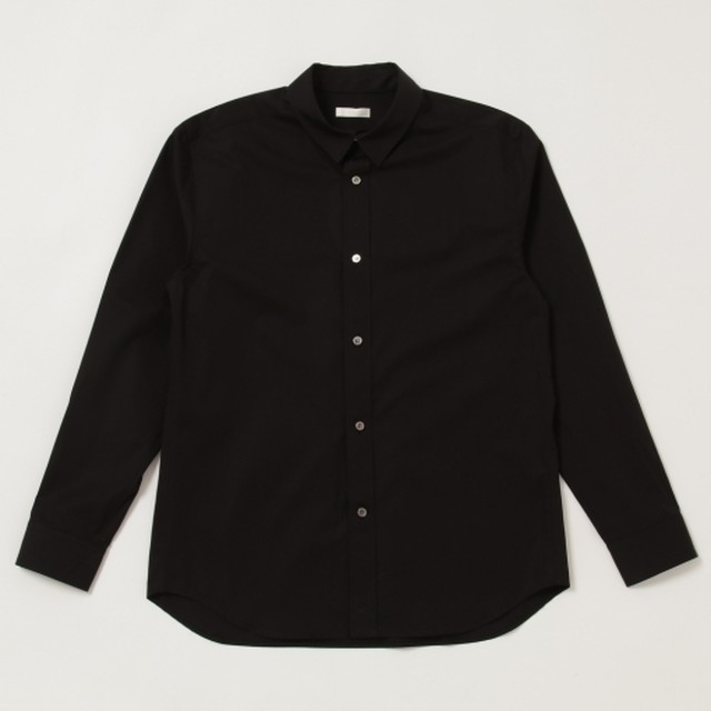niuhans / Supima Cotton Regular Collar L/S Shirt[Black]