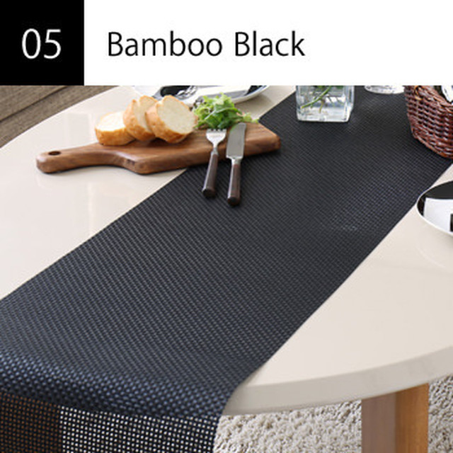 テーブルランナー Bamboo Black