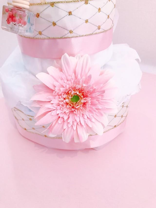 おむつケーキ *ピンクフラワー*