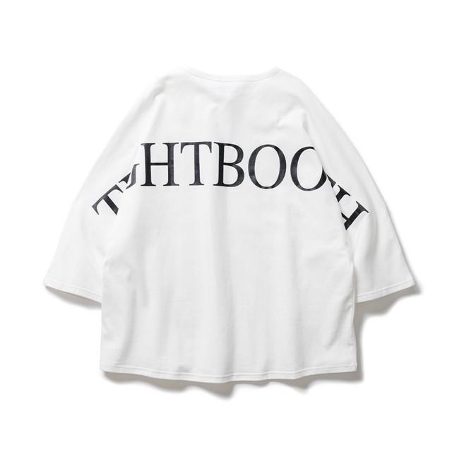 TIGHTBOOTH BIG LOGO 7 SLEEVE T-SHIRT WHITE