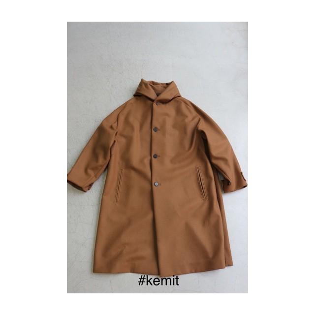 kemit【ケミット】カシミア混 HOOD COAT CAMEL