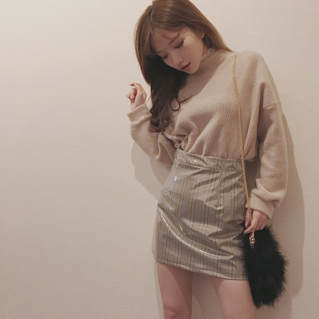 lace collar knit tops (A18-1024K)