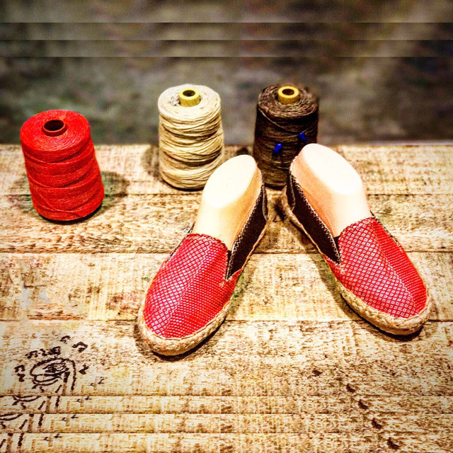 Espadrilles : strawberry