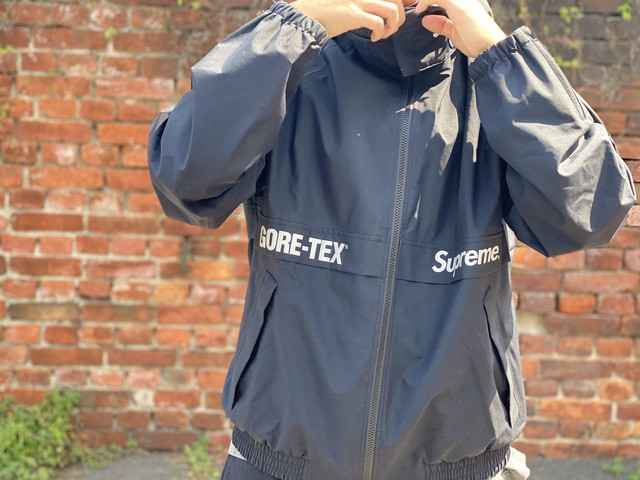 Supreme 18AW GORE-TEX COURT JACKET BLACK LARGE 400ID 3734