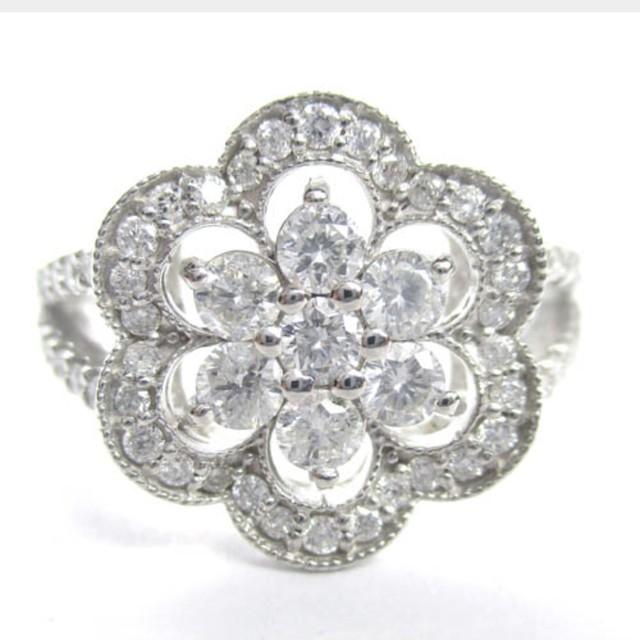 天然ダイヤモンド リング(指輪) ホワイトゴールド