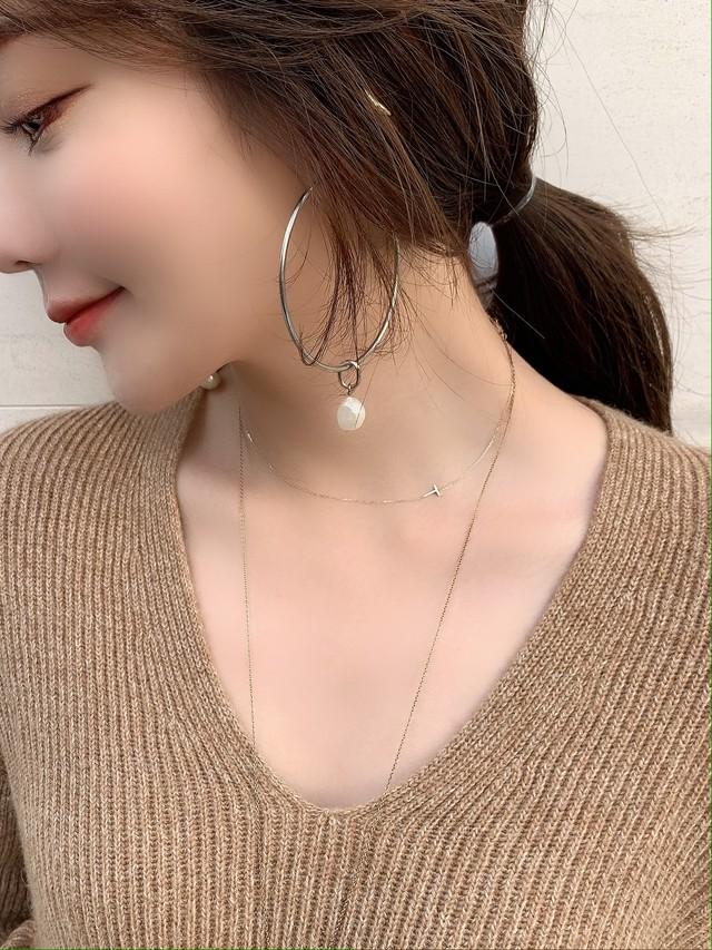 【予約】initial「T」skin jewelry necklace K10YG / yellow gold (12月下旬発送予定)