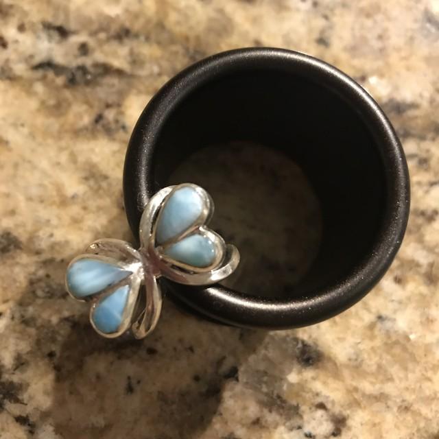 """ラリマー """"Butterfly"""" ring"""