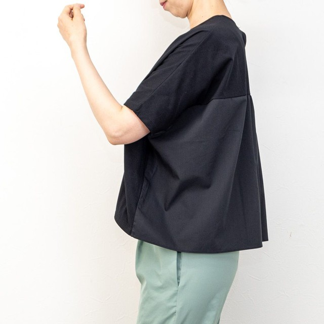 【SONO/ソーノ】ハイブリッドワイドTシャツ(ブラック)