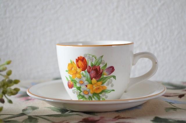 小さなカップ&ソーサ―(bouquet柄)