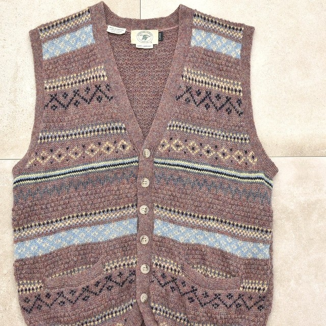 80's American Classic nordic knit vest