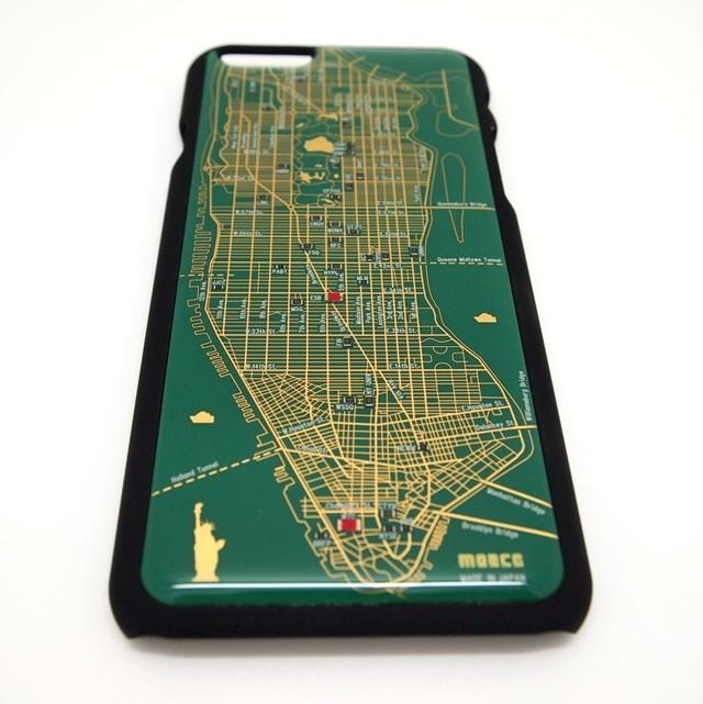 NY回路地図 iPhone6/6s  ケース 緑【LEDは光りません】【東京回路線図A5クリアファイルをプレゼント】
