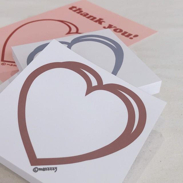 [MAZZZZY] heart メモパッド (全3色)