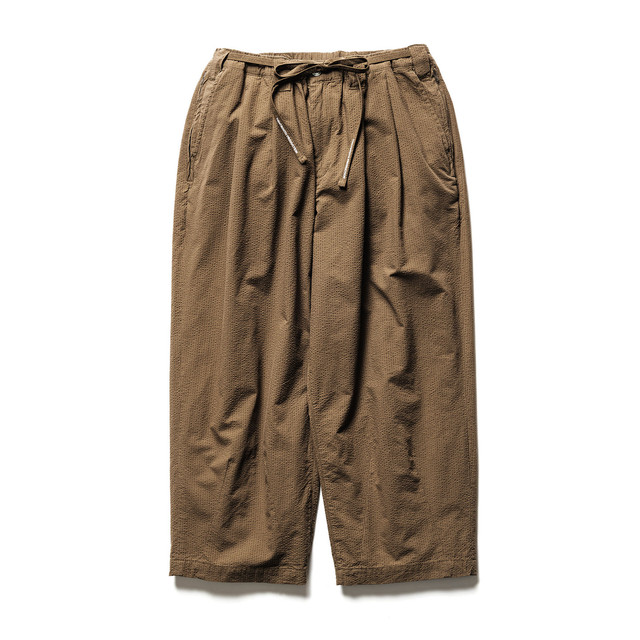 TIGHTBOOTH SUCKER BAGGY SLACKS  BROWN
