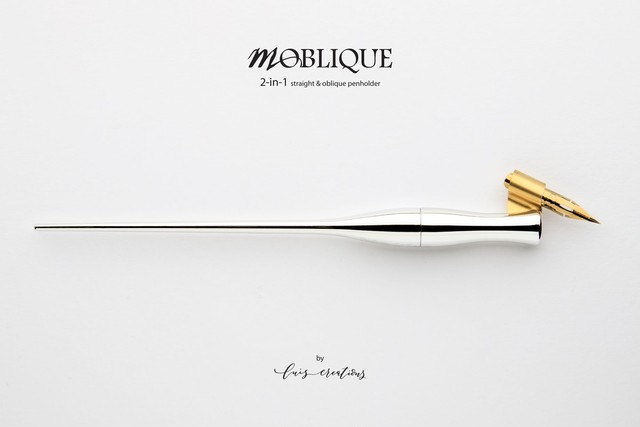 Moblique 2-in-1 Penholder /Chrome plated / モブリークペンホルダー(ストレート・オブリーク兼用)