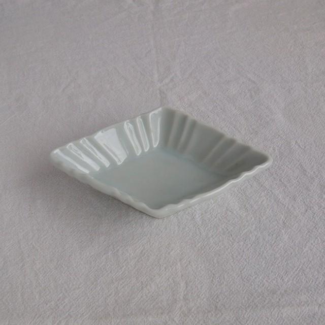 稲村真耶 | 白磁菱形小皿