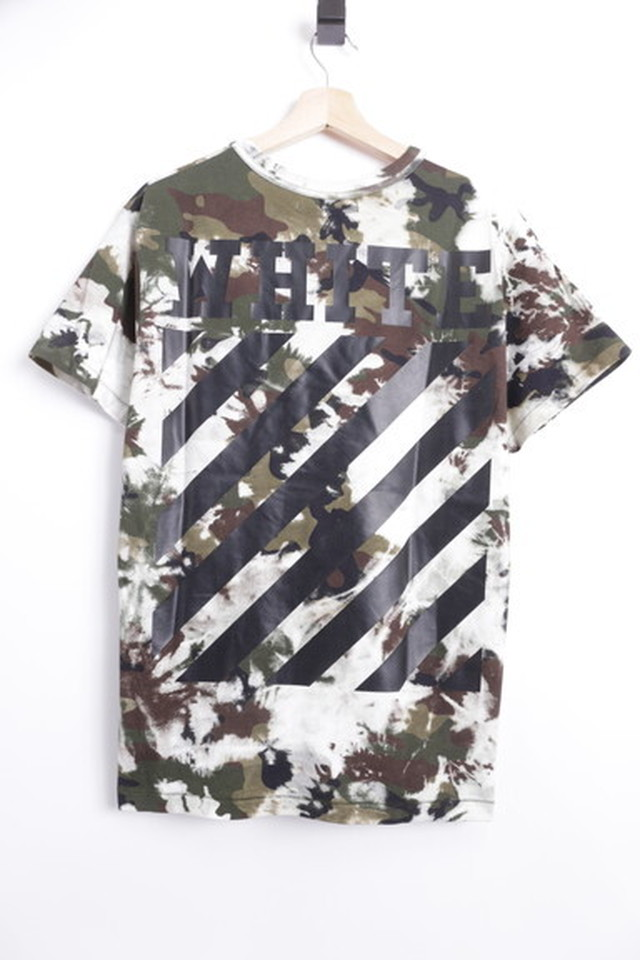 OFF-WHITE DIAG CAMOUFLAGE TEE XS 60JH8156