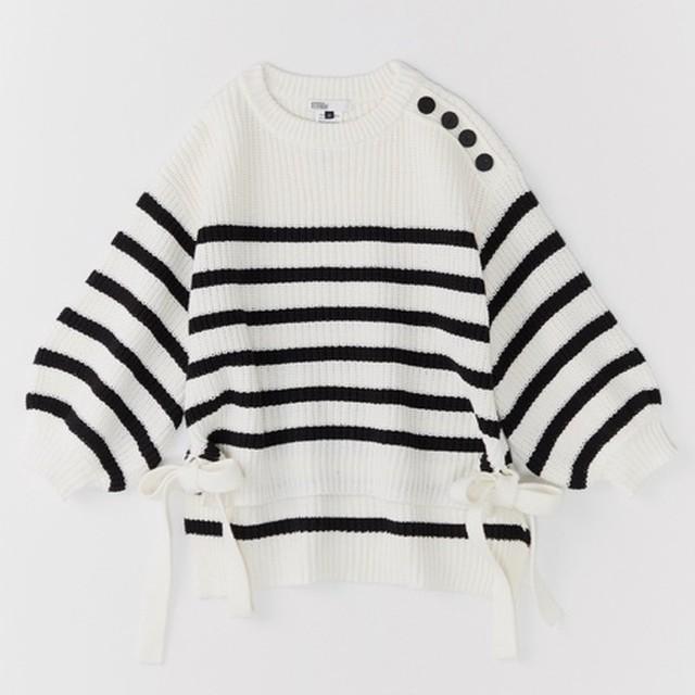 DOUBLE STANDARD CLOTHING (ダブルスタンダードクロージング) 片畦ボーダーニット 0209160203