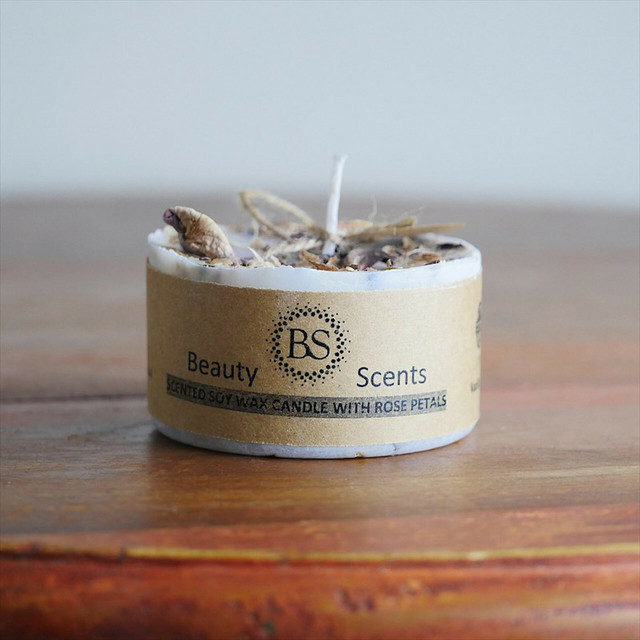 """"""" Beauty Scents   Soy Wax Candle   Rose / ローズ ソイワックスキャンドル """""""