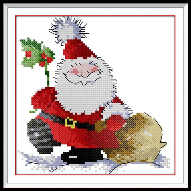 【小物】サンタクロース簡単スタイルDIYクロスステッチ