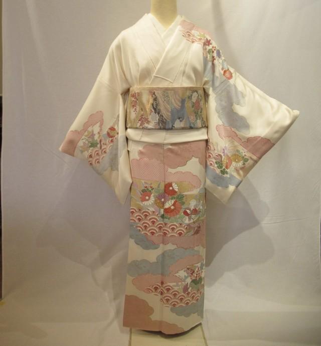 1952京友禅染訪問着と西陣織袋帯セット