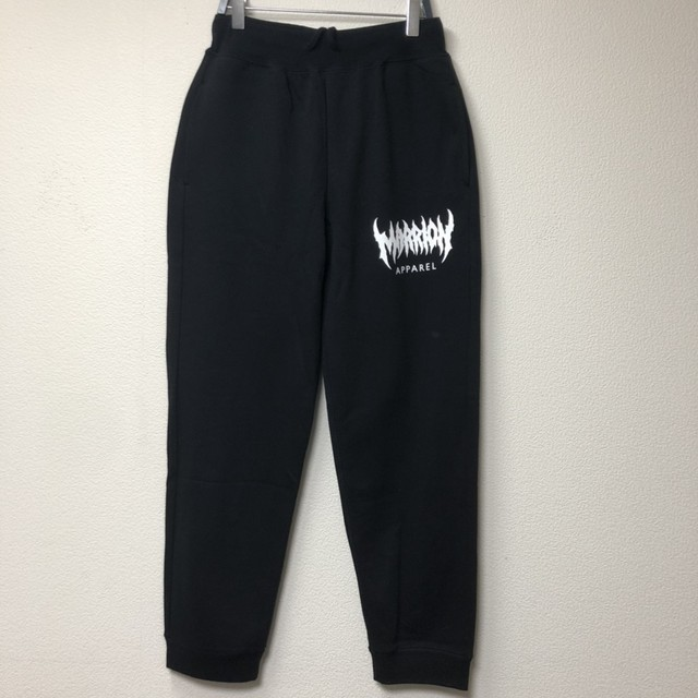【裏パイル】MARRION APPAREL LOGO PANTS (Black×White)