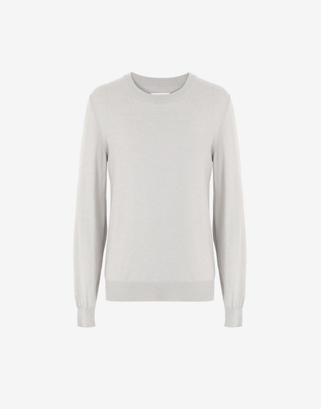 Maison Margiela Elbow patch sweater lightgrey
